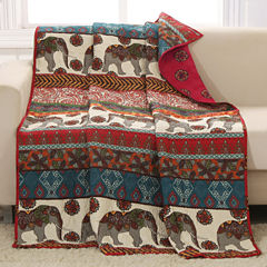 Barefoot Bungalow 100% Cotton Kandula Reversible Throw