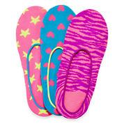 Total Girl® 3-pk. Printed Liner Socks - Girls