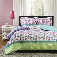 Mi Zone Jenny Polka Dot Comforter Set