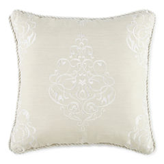 Royal Velvet® Azure Embroidered Square Decorative Pillow