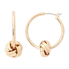 Monet® Gold-Tone Knot Hoop Earrings