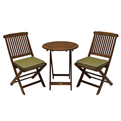 Outdoor Interiors 3pc. Round Bistro Set
