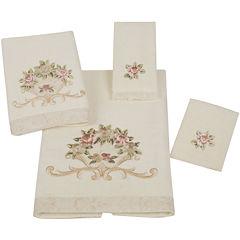 Avanti Rosefan Ivory Bath Towels