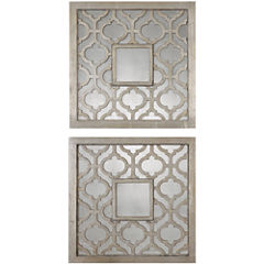 Sorbolo Set of 2 Decorative Square Wall Mirrors