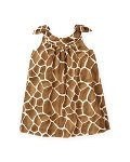 Giraffe Print Bow Dress