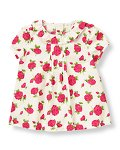 Rose Floral Collared Top