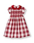 Hand-Smocked Plaid Dress
