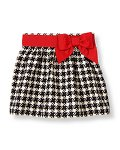 Bow Houndstooth Skirt