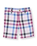Gingham Canvas Short