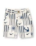 Embroidered Whale Patchwork Short