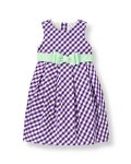 Ribbon Sash Gingham Dress