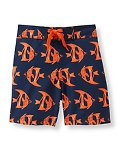Fish Print Swim Trunk