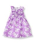 Smocked Floral Dress