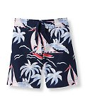 Sailboat Print Swim Trunk