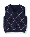 Patterned Sweater Vest