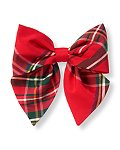 Plaid Bow Barrette