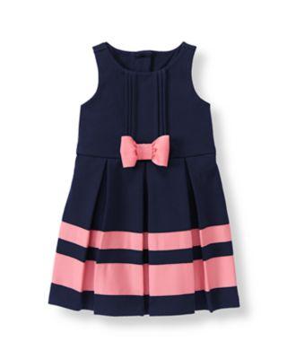 Ribbon Stripe Ponte Dress