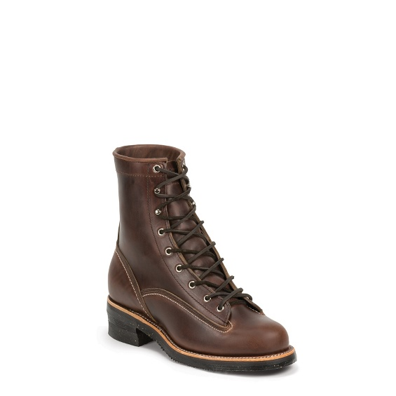 """Image for MEN'S 1935 8"""" ORIGINAL CHOCOLATE MOUNTAINEER LOGGER RUGGED OUTDOOR BOOTS ; Style# 1042CHO"""