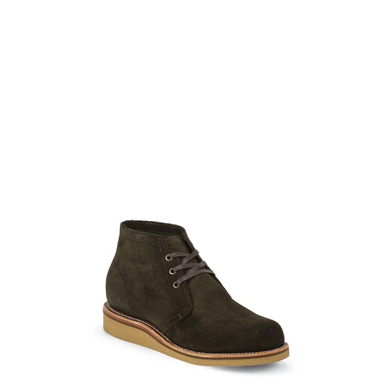 Image for MEN'S MODERN SUBURBAN CHOCOLATE MOSS SUEDE SHOE ; Style# 1901G08