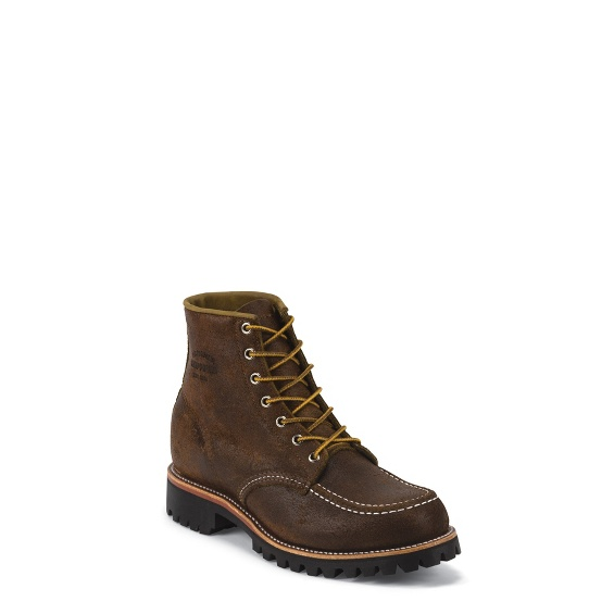 "Image for MEN'S 6"" BROWN BOMBER MOUNTAINEER MOCC TOE FIELD BOOTS ; Style# 1901M64"