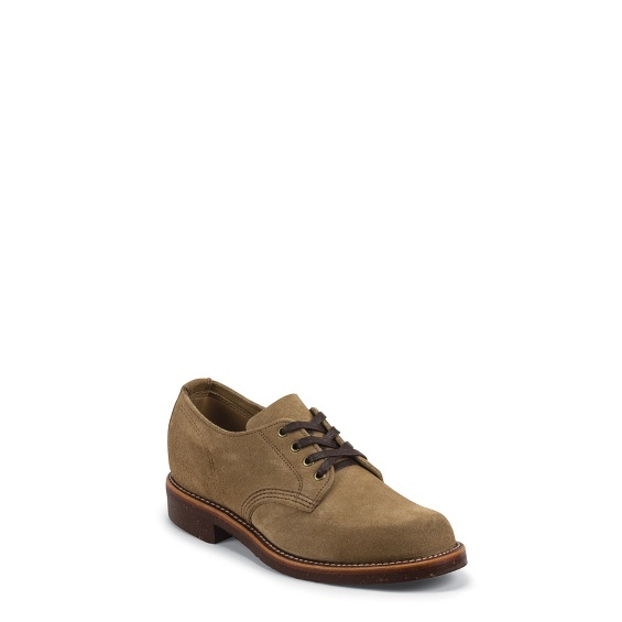 """Image for MEN'S 4"""" KHAKI SUEDE GENERAL UTILITY SERVICE OXFORD SHOE ; Style# 1901M77"""