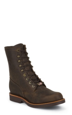 MEN'S 8inch CHOCOLATE APACHE CLASSIC LACER RUGGED OUTDOOR BOOTS