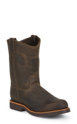 MEN'S 10inch CHOCOLATE APACHE CLASSIC PULL ON RUGGED OUTDOOR BOOTS
