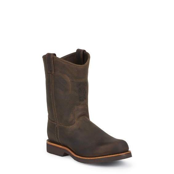 """Image for MEN'S 10"""" CHOCOLATE APACHE CLASSIC PULL ON RUGGED OUTDOOR BOOTS ; Style# 20075"""