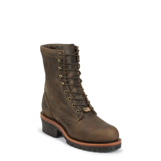 """Image for MEN'S 8"""" CHOCOLATE APACHE UTILITY STEEL TOE LOGGER RUGGED OUTDOOR BOOTS ; Style# 20091"""