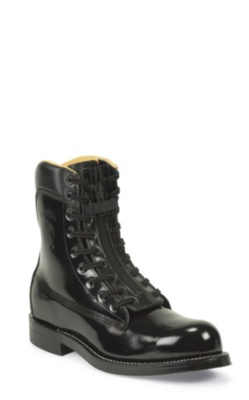 MEN'S BLACK MELO VEAL STEEL TOE RUGGED TROOPER BOOTS