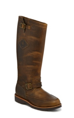 MEN'S 17inch IOWA TAN AMERICAN BISON MOCC TOE RUGGED OUTDOOR SNAKE BOOTS