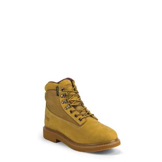 """Image for MEN'S 6"""" GOLDEN TAN NUBUC UTILITY RUGGED OUTDOOR BOOTS ; Style# 24513"""