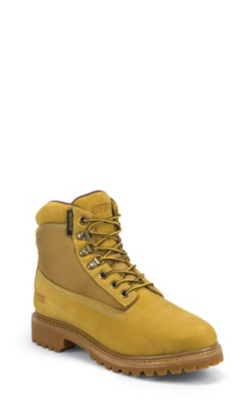 MEN'S 6inch GOLDEN TAN NUBUC UTILITY RUGGED OUTDOOR BOOTS
