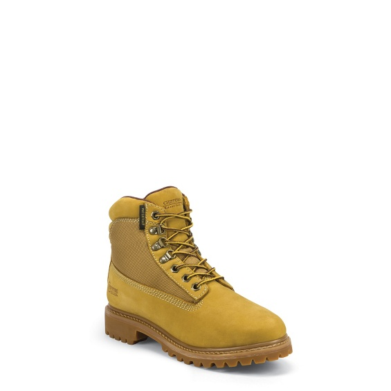 """Image for MEN'S 6"""" GOLDEN TAN NUBUC UTILITY RUGGED OUTDOOR BOOTS ; Style# 24514"""