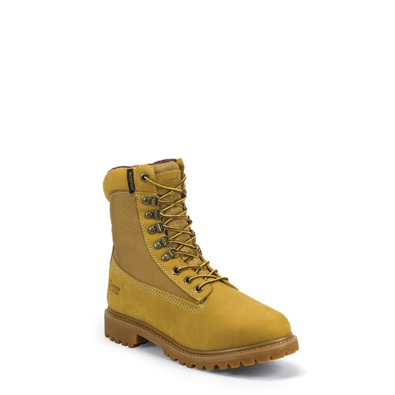 """Image for MEN'S 8"""" GOLDEN TAN NUBUC UTILITY RUGGED OUTDOOR BOOTS ; Style# 24950"""