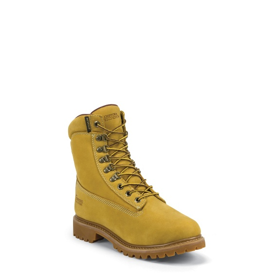 """Image for MEN'S 8"""" GOLDEN TAN NUBUC UTILITY WATERPROOF RUGGED OUTDOOR BOOTS ; Style# 24951"""