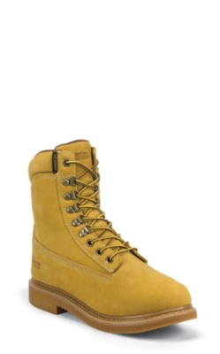 MEN'S 8inch GOLDEN TAN NUBUC UTILITY RUGGED OUTDOOR BOOTS