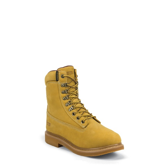 """Image for MEN'S 8"""" GOLDEN TAN NUBUC UTILITY RUGGED OUTDOOR BOOTS ; Style# 24952"""