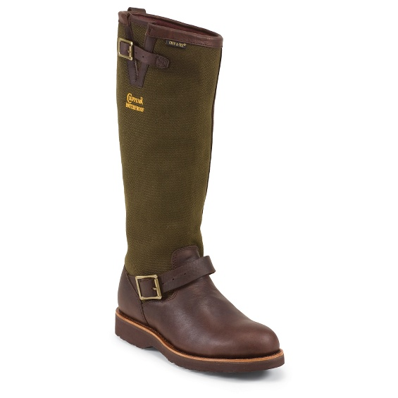 "Image for MEN'S 17"" BRIAR PITSTOP WATERPROOF PULL ON RUGGED OUTDOOR SNAKE BOOTS ; Style# 25110"