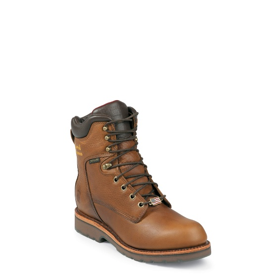 """Image for MEN'S 8"""" TAN UTILITY WATERPROOF RUGGED OUTDOOR BOOTS ; Style# 25228"""
