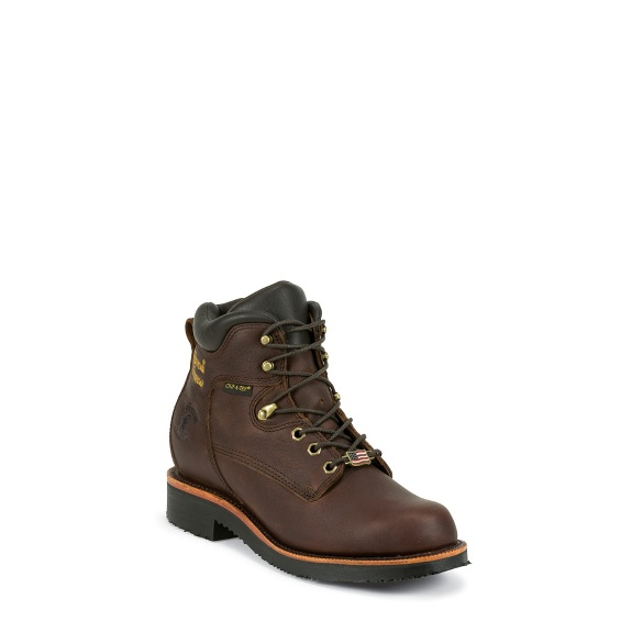 "Image for MEN'S 6"" RICH OILED WALNUT UTILITY WATERPROOF LACE UP RUGGED OUTDOOR BOOTS ; Style# 25250"