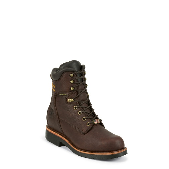 "Image for MEN'S 8"" RICH OILED WALNUT UTILITY WATERPROOF LACE UP RUGGED OUTDOOR BOOTS ; Style# 25255"