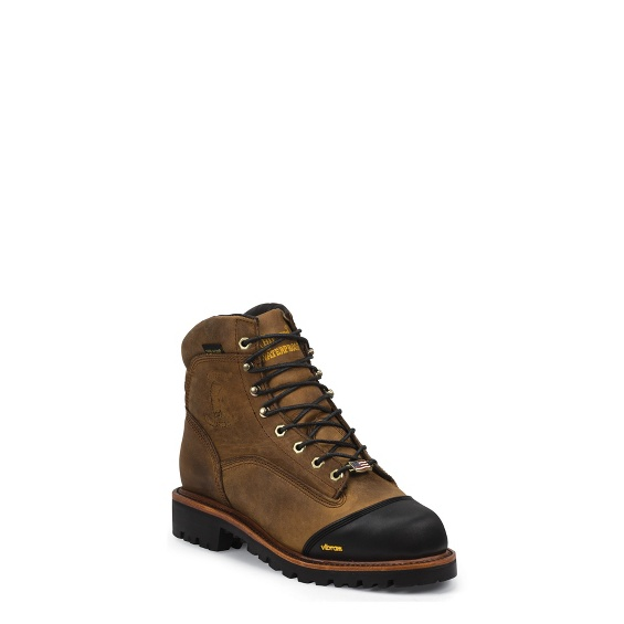 """Image for MEN'S 6"""" GOLDEN SAND APACHE WATERPROOF INSULATED LACE-TO-TOE BOOTS ; Style# 25372"""