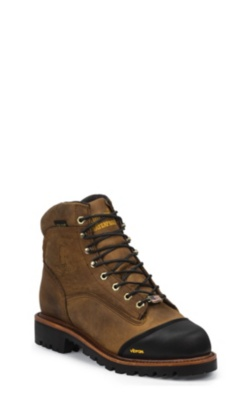 MEN'S 6inch GOLDEN SAND APACHE WATERPROOF INSULATED COMPOSITION TOE LACE-TO-TOE OUTDOOR BOOTS