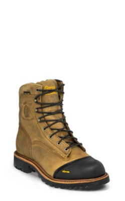 MEN'S 8inch GOLDEN SAND APACHE WATERPROOF INSULATED LACE-TO-TOE OUTDOOR BOOTS