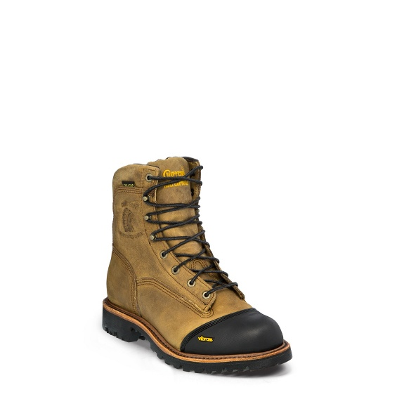 "Image for MEN'S 8"" GOLDEN SAND APACHE WATERPROOF INSULATED LACE-TO-TOE OUTDOOR BOOTS ; Style# 25376"