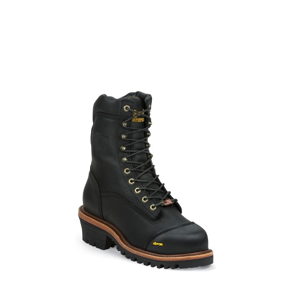 "Image for MEN'S 9"" BLACK OILED WATERPROOF INSULATED COMPOSITION TOE LACE-TO-TOE OUTDOOR BOOTS ; Style# 25381"