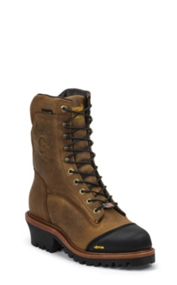 MEN'S 9inch GOLDEN SAND APACHE WATERPROOF INSULATED LACE-TO-TOE OUTDOOR BOOTS