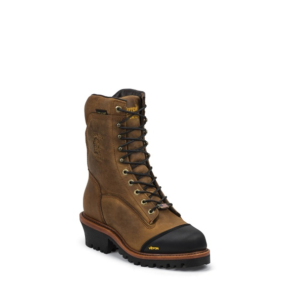 "Image for MEN'S 9"" GOLDEN SAND APACHE WATERPROOF INSULATED COMPOSITION TOE LACE-TO-TOE OUTDOOR BOOTS ; Style# 25388"