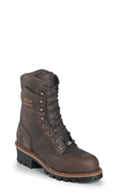 MEN'S 9inch BAY APACHE LOGGER STEEL TOE RUGGED OUTDOOR BOOTS
